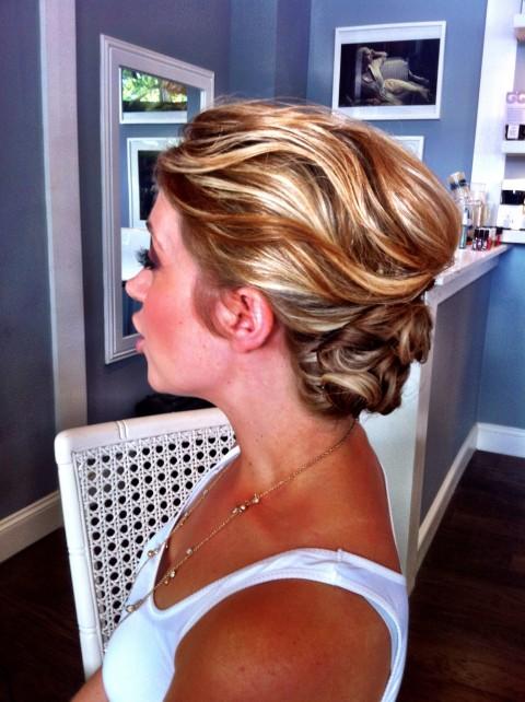 Wedding hair by Charlotte Belk
