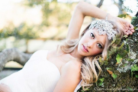 romantic charleston wedding hair